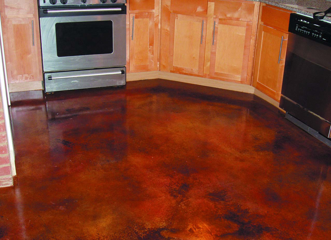 Layering color with acid stains on concrete concrete decor for How to remove stains from cement floor