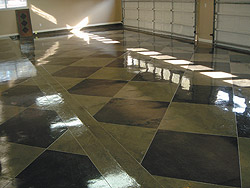 Sealed and maintained properly,decorative floors look good for years.