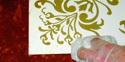 Stenciling floors or objects is a fun, rewarding artwork form with almost immediate gratification.