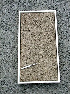 Pervious concrete has a rough, open texture that has been compared to a rice cake. Color may be more pronounced because the rough texture reduces the glare associated with conventional concrete pavement.