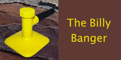 The Billy Banger a hand tamping tool for stamped concrete mats and skins.