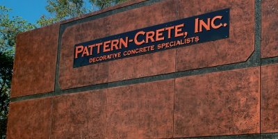 Pattern-crete uses tilt-up construction up side down.