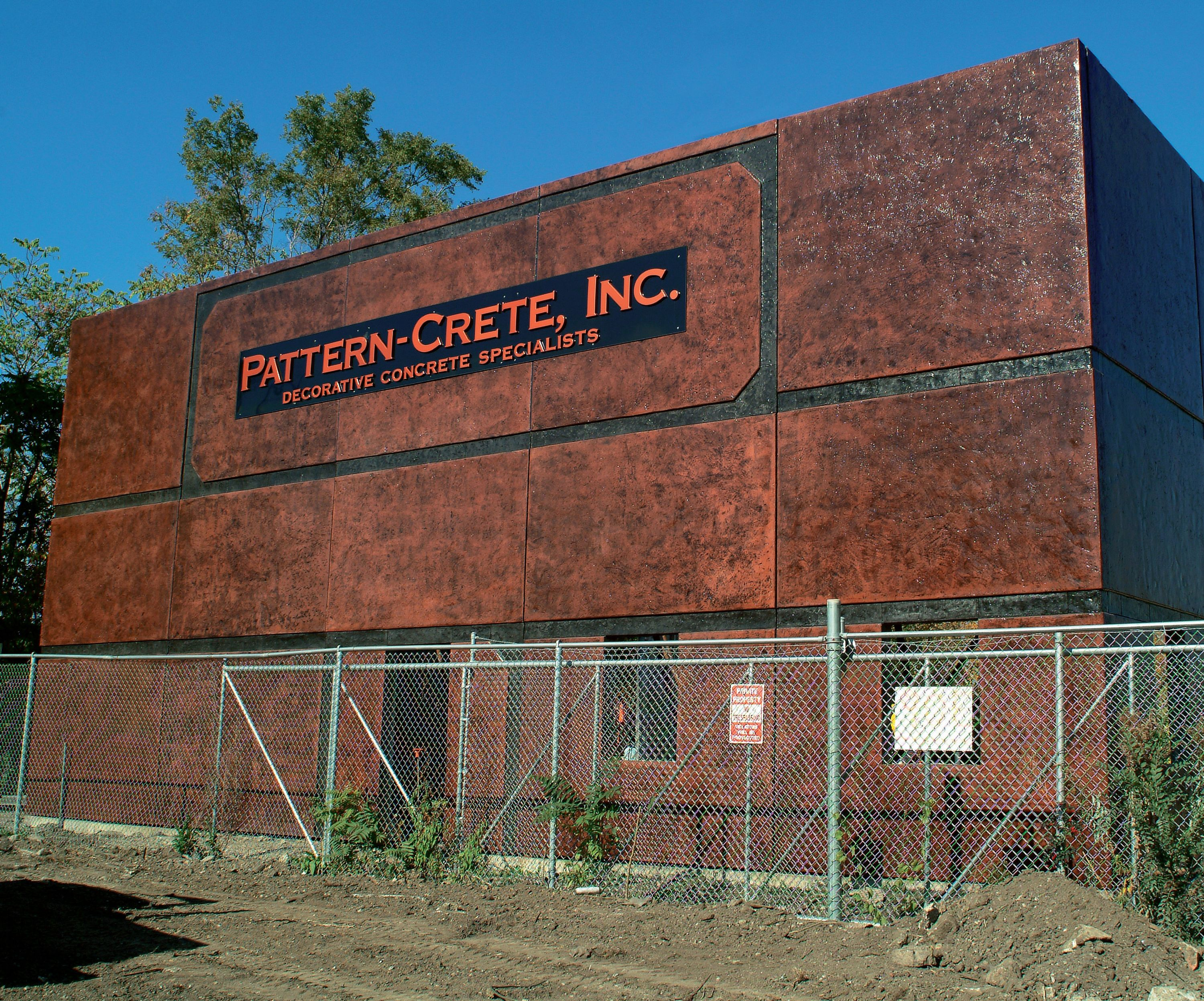 Pattern-Crete Warehouse and Shop - He wanted to use tilt-up construction, but didn't have the space to cast all the panels at once. That raised the question — would he be able to make the colors match with batches poured a month apart?