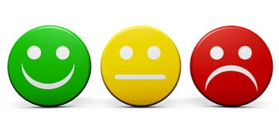 Emoji for smiling to frowning red, yellow, green, representing customer service. from https://www.keeping.com/customer-service/excellent-customer-service/