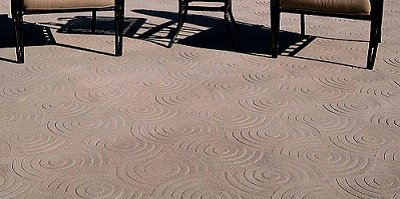 Reflection stamp pattern for concrete from Matcrete.