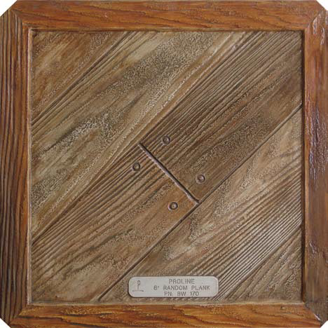 Six-Inch Random Wood Plank concrete stamp Proline Concrete Tools Oceanside, Calif.
