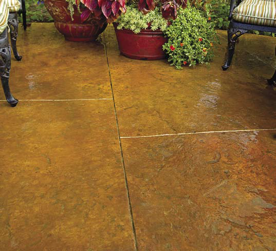 Texas Tuscan concrete floor how to and recipe L.M. Scofield /Los Angeles, Calif.