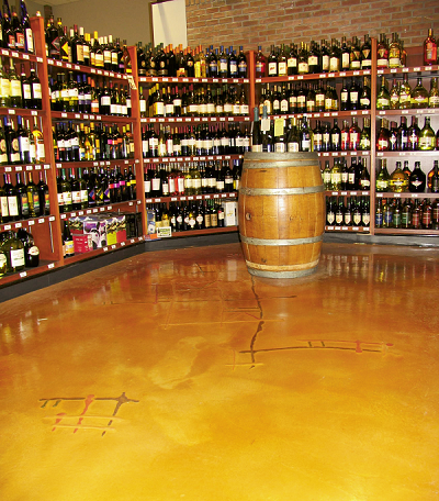 Wine store floor was marred ceramic tile and is now beautifully coated and aesthetically pleasing.