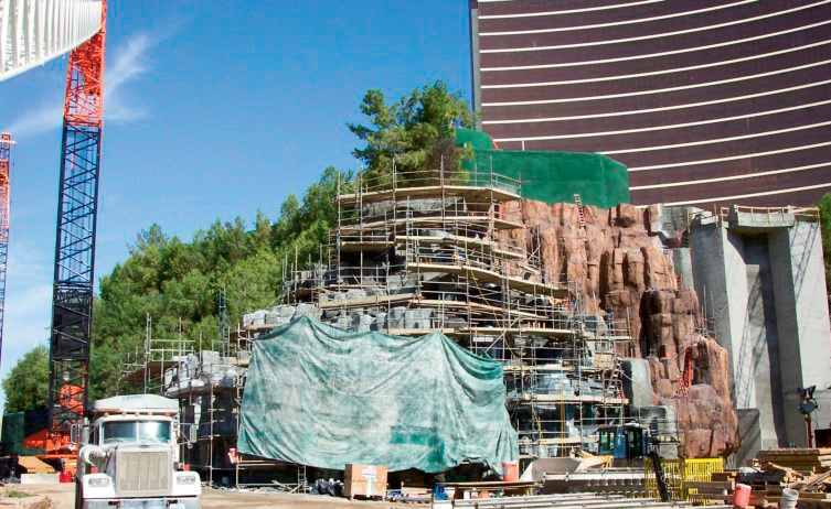 """Steve Wynn's vision to build a volcano in the middle of thedesert kicked everything off,"" Lokken says of the extensive rockwork done in Las Vegas in recent years. ""And if the end resultdoesn't match his vision, you rip it up and do it all over again."""
