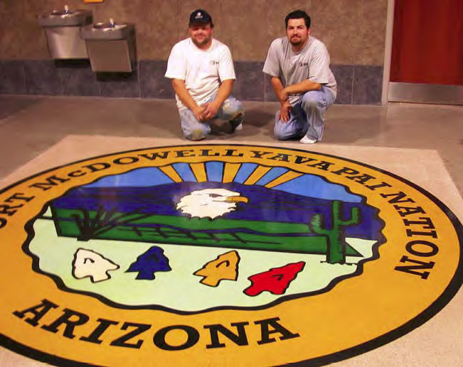 Yavapai Nation seal, Tribal Justice Building at Fort McDowell, Ariz.