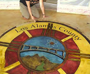 Seal of Los Alamos County Fire Station No. 3.