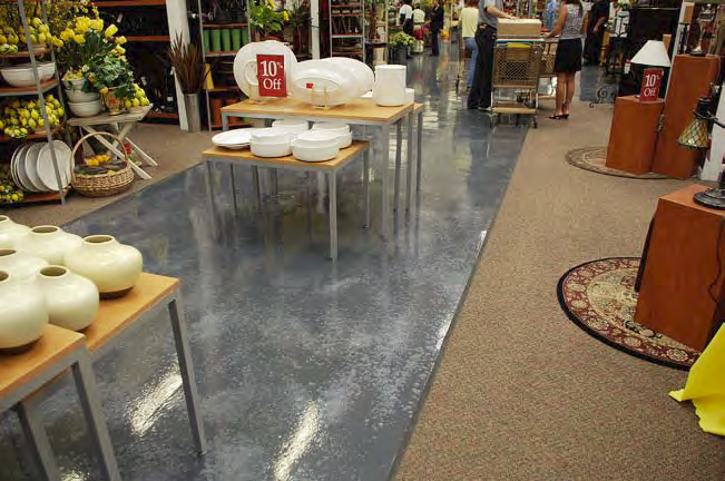 The epoxy coating provided a highly decorative, yet durable, look.