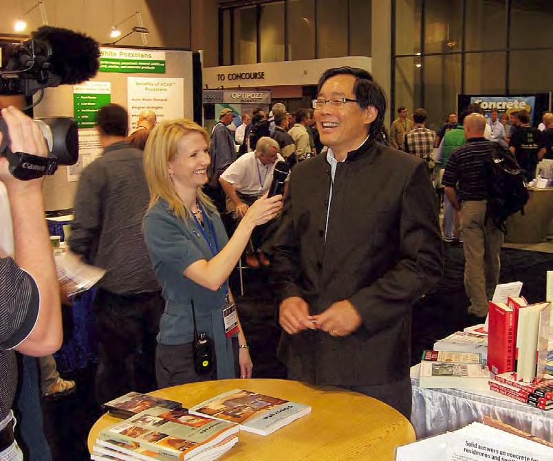 Lane Mangum of Concrete Countertop Institute interviews Fu Tung Cheng at the annual Concrete Countertop Industry Conference.