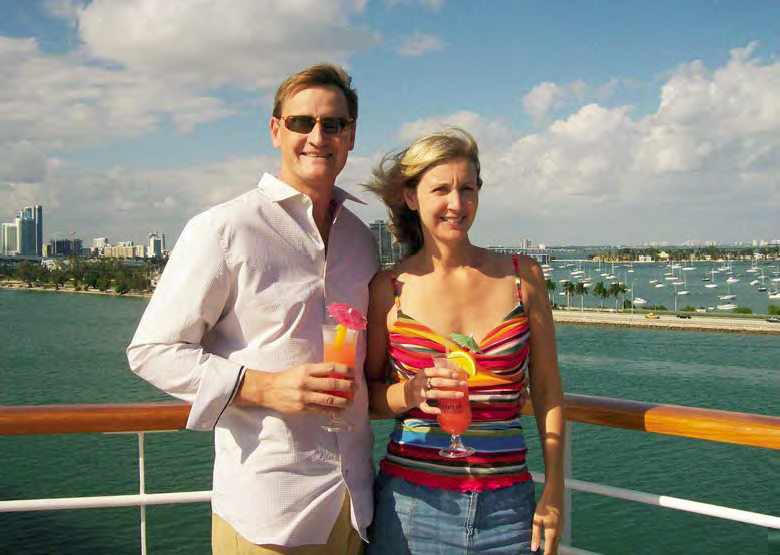Publisher and owners of Concrete Decor magazine got to enjoy their time aboard the decorative concrete cruise.