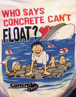 T-shirt design given to all those that attended the 2007 decorative concrete cruise.