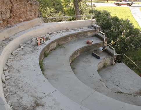 An old falling apart amphitheater.