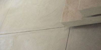 Pacific Palette saw-cut joint tool made these lines perfect on this concrete slab