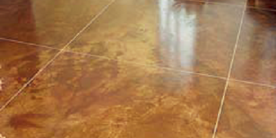 Refurbished floor with control joints/grout lines in a different color.