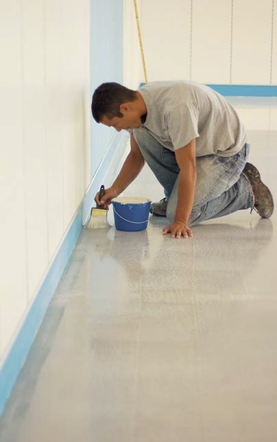 Applying the edge of the epoxy takes precision and a steady hand,