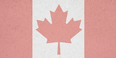 Canadian flag with a concrete treatment