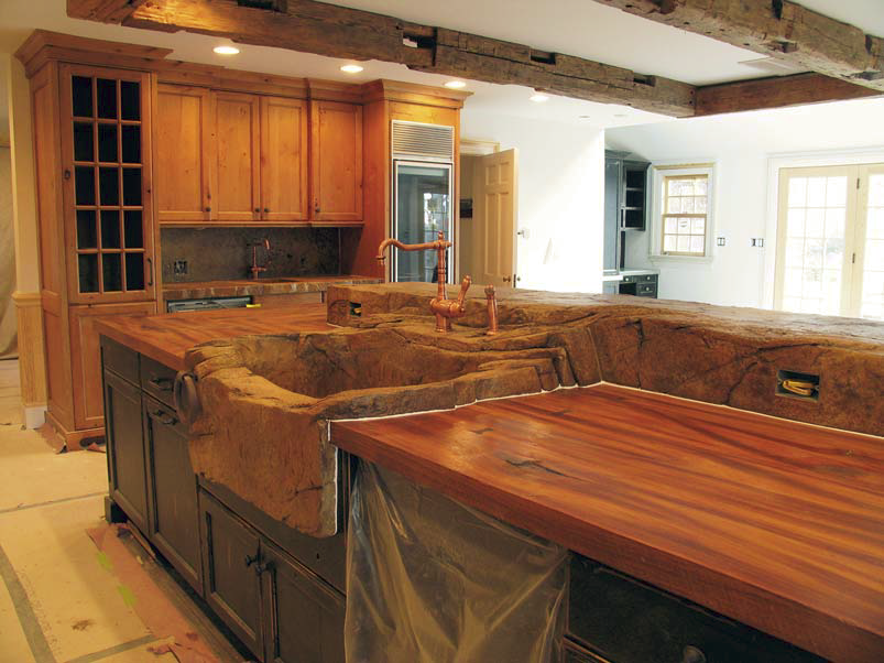 Wood Look Concrete Countertops In The Kitchen Concrete Decor