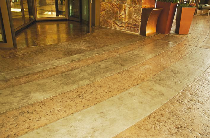 Floor at the MGM grand gets luxurious decorative concrete floor.