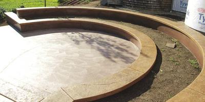 Quick Release Block Forms for Creating Concrete Landscape