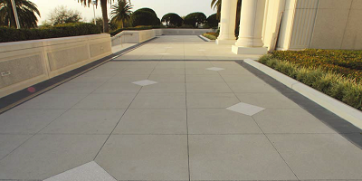 Walkway at an LDS church in Florida gets a makeokver.
