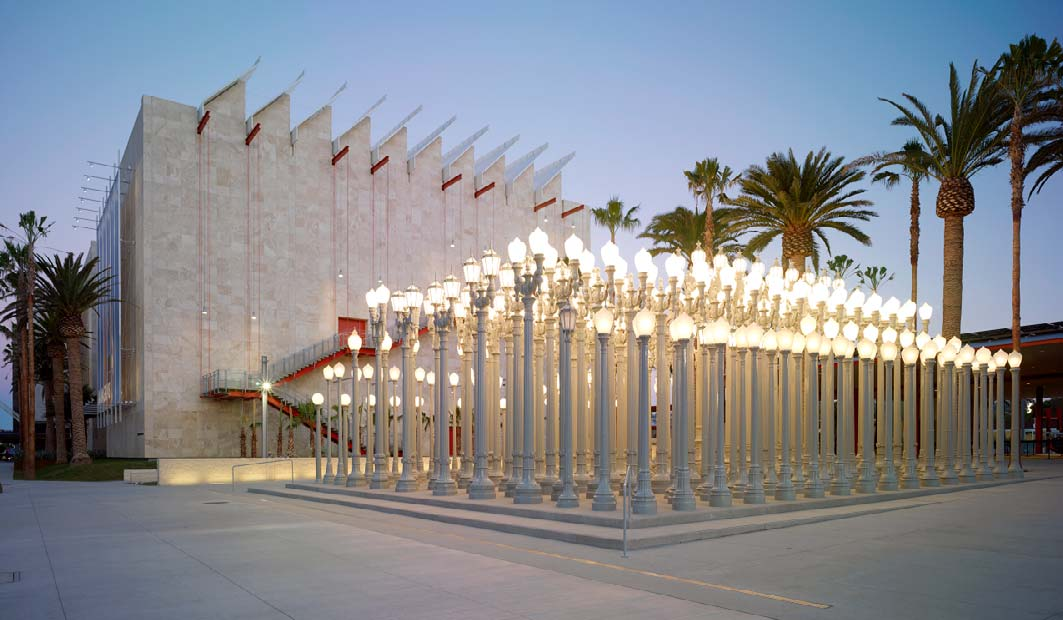 Concrete Contractor work by Trademark Concrete Systems Inc. plaza with hundreds of streetlights.