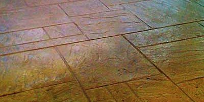 Elite Crete Reflector Enhancer added to clear concrete sealer.