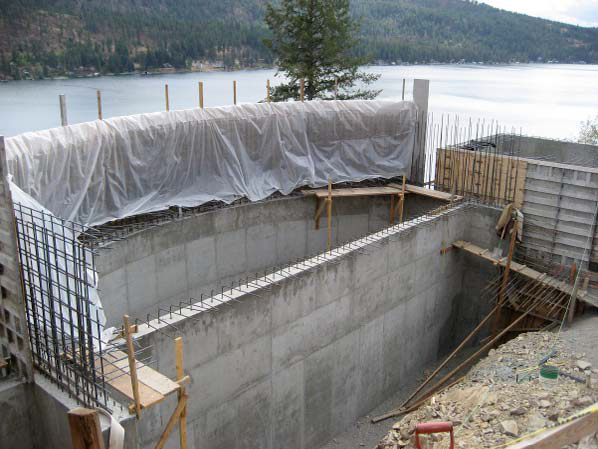 "The shotcrete is usually applied in two layers, with waterproofing tackled between the first and the second layer. ""After the final coat, there is an optional crystalline waterproofing that is actually mixed into the concrete,"" he says"