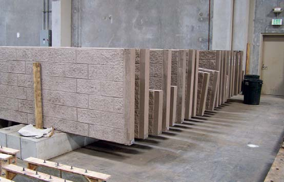 U.S. Precast called on Donnie Vachon of New Images Concrete Construction to stamp the plain side of every one of the 126 panels. And with a background in the precast industry, he was just the guy for it. Because the pattern
