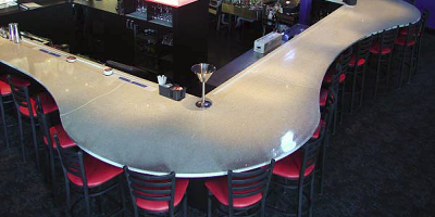 Bar top that has been sealed with a UV rated sealer.