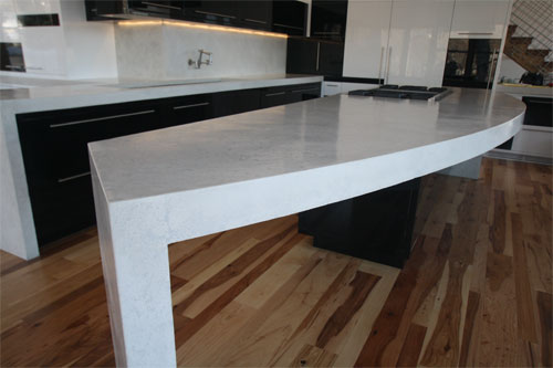 A White Pressed Concrete With A Light Grey Infill Was Selected, And After  Samples Were