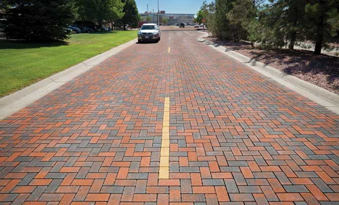 permeable concrete road