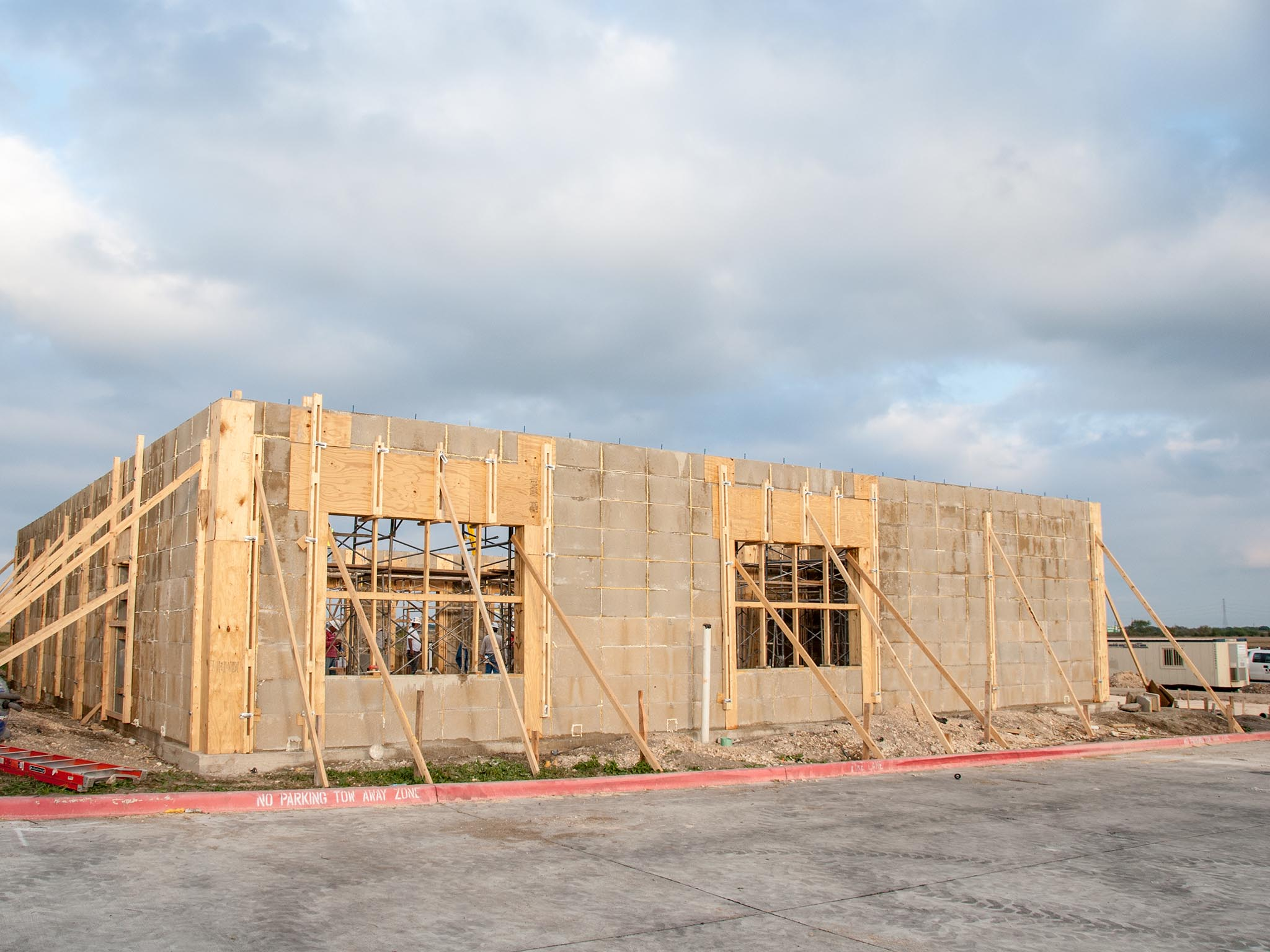 insulated concrete blocks and forms medical office