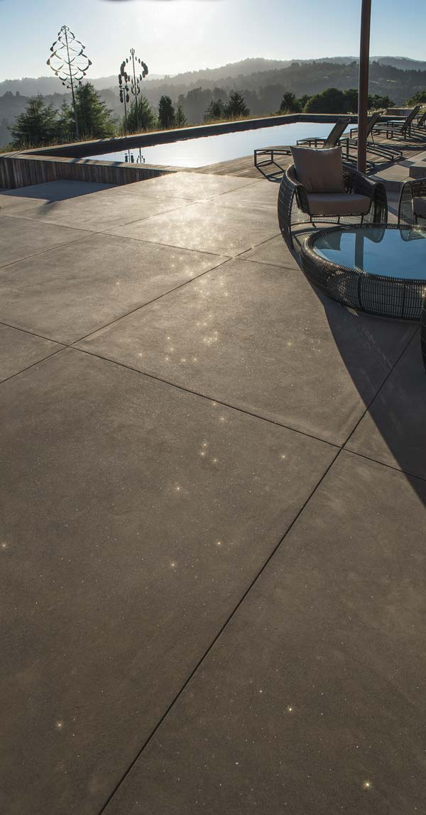 pool deck area with sparkle grain