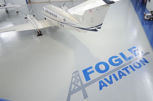 Fogle Aviation floor by Flowcrete