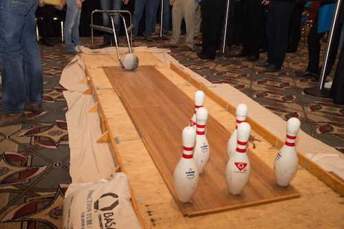 ACI concrete bowling ball competition