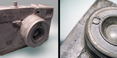 Cast concrete camera