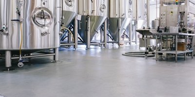 Stonhard's product used on brewery floor in California