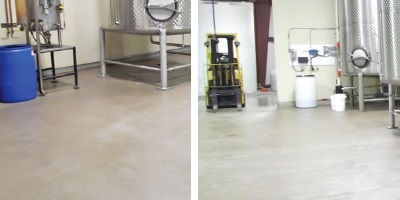 Coating on the floor at a vinegar facility