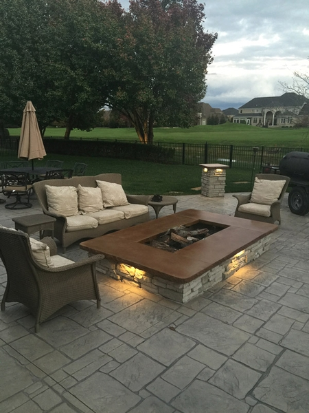 Stamped Concrete Patio And Firepit (2)