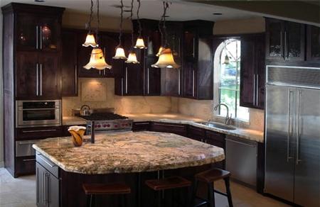 Concrete Countertop Design Competition: Concrete Kitchen, Granite Island