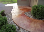Stamped Stained Concrete Walkway