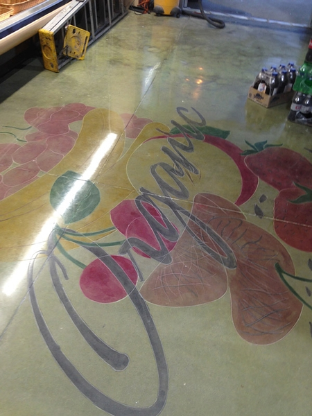 Stained Concrete Floor With Logo Concrete Decor