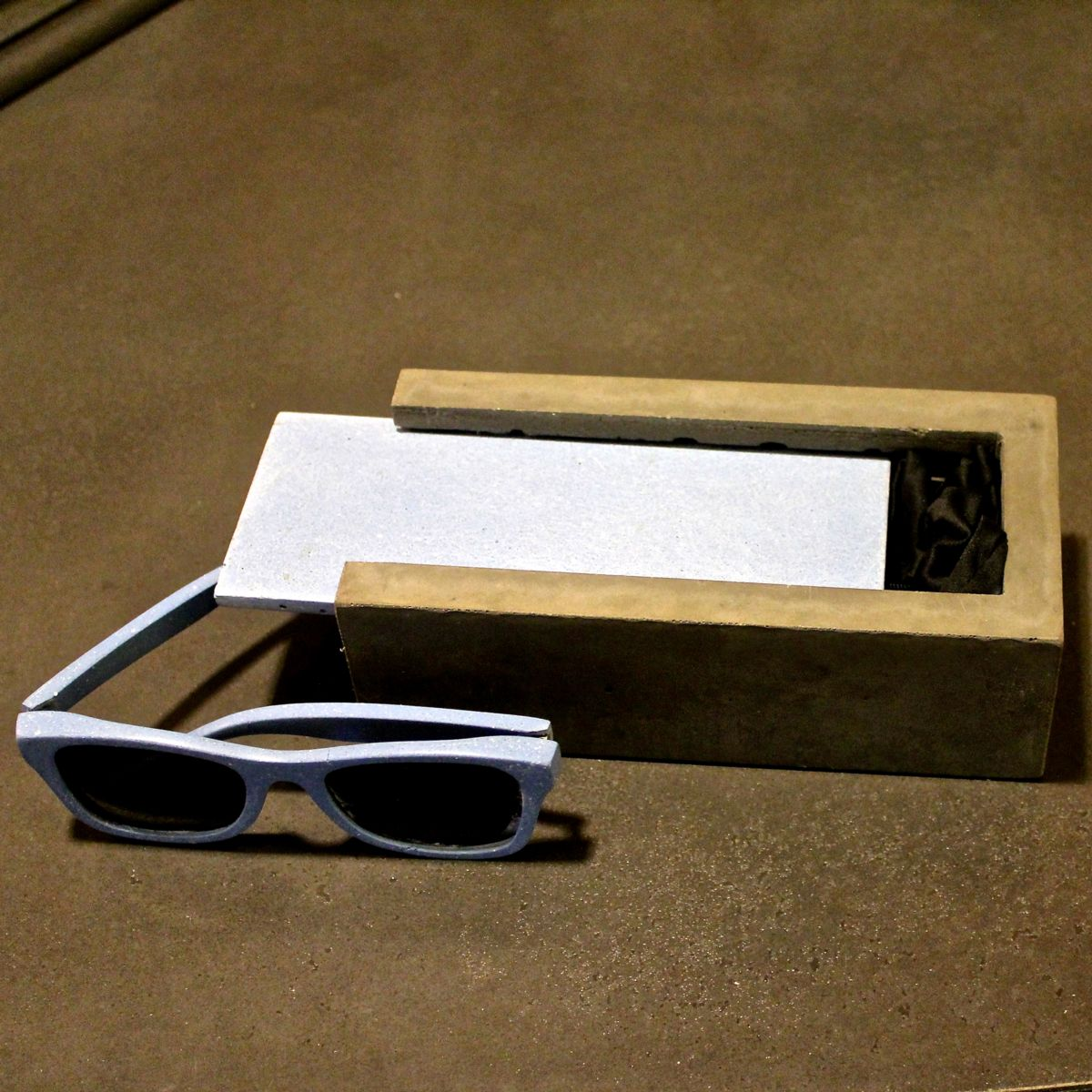 Concrete Sunglasses and Carrying Case Jimmy Hazel of Clastic Designs Sparks, Nevada