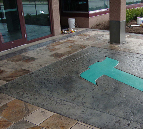 Mata says the advantages of offering a diverse list of services are the same as they'd be in any industry. Photo courtesy of Cutting Edge Decorative Concrete
