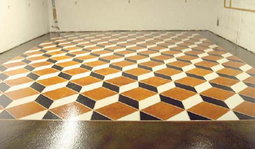 Staining Concrete Recipe: The Third Dimension | Concrete Decor
