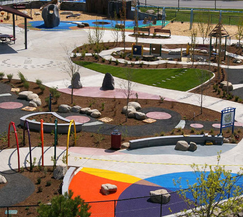 Discovery Playground Integral Color Decorative
